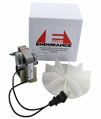 Electric Motors Universal Bathroom Fan Replacement Motor Kit