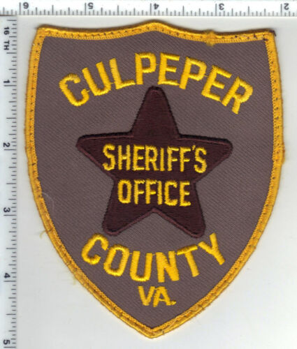 Culpeper County Sheriff (Virginia) Uniform Take-Off Shoulder Patch Early 1980