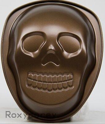 Nordic Ware Halloween 9.3 x 7.3 Bronze Skull Cake Pan 3.6 Cup Capacity - Halloween Skull Cake Pan