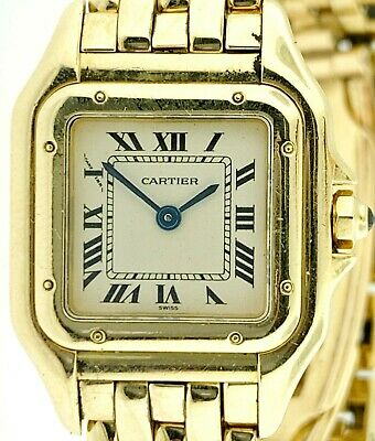 CARTIER  Panthere Wrist Watch for Women 18K  Solid Yellow Gold Bracelet Watch