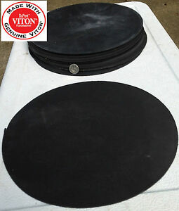 VITON FLUOROELASTOMER Disc Rubber Gasket Material - 9 inch Disc x 1/16