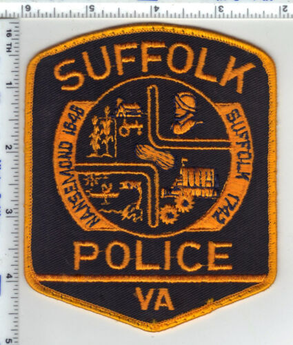 Suffolk Police (Virginia) Uniform Take-Off Shoulder Patch from the 1980