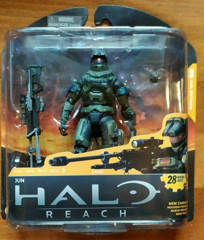 McFARLANE TOYS THE HALO REACH 3 UNSC JUN ACTION FIGURE SERIES 3 R ...!