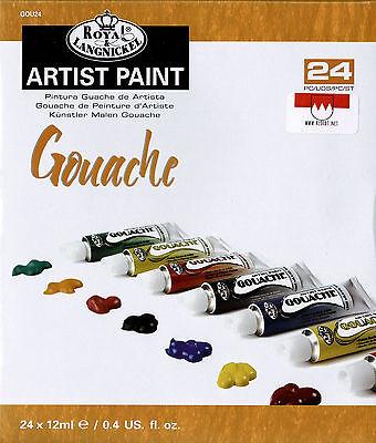 Gouache-Farbe 24x12ml Tuben in guter Studienqualität Gouache Wasserfarben