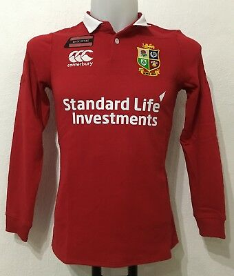 8426678ffd4 BRITISH AND IRISH LIONS 2017 L/S HOME JERSEY BY CANTERBURY SIZE LADIES UK 18