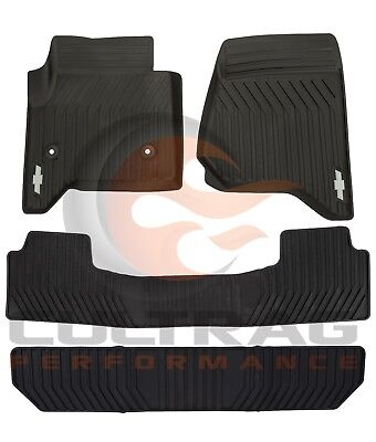 2015-2018 Suburban Tahoe Front & 2nd & 3rd Row All Weather Floor Mats Black