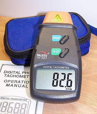 Digital Laser Photo Tachometer Rpm Tach Tool F Hvac Automotive Engine Motor Usa