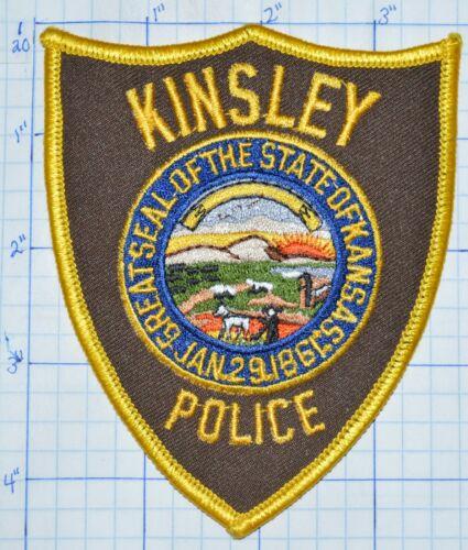 KANSAS, KINSLEY POLICE DEPT PATCH