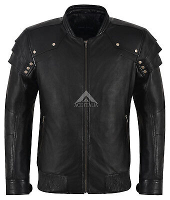 Mens Real Leather Jacket Black 100% Lambskin Inspired By Witch Hunter Movie 9280 - Male Witch Movies