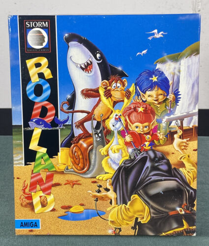 Computer Games - Commodore Amiga Rodland PC Computer Video Game by Storm 1991 w/ Manual & Box