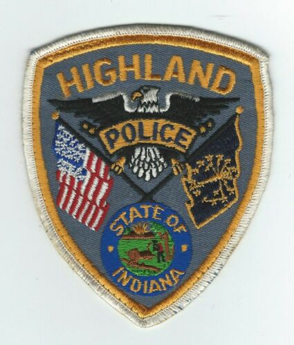 VINTAGE HIGHLAND, INDIANA POLICE (CHEESE CLOTH BACK) patch