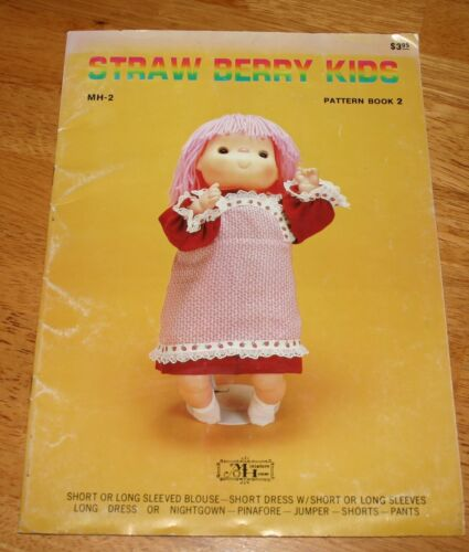 Miniature House STRAWBERRY KIDS - DOLL CLOTHES SEWING PATTERN BOOK 2 - Girl Doll