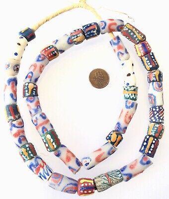 Made in Ghana mixed Ghana recycled glass African trade beads-Ghana