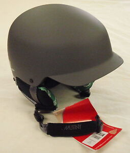 NEW RED MUTINY SKI SNOWBOARD HELMET 54 TO 55 CM GRAY BY BURTON MSRP $95