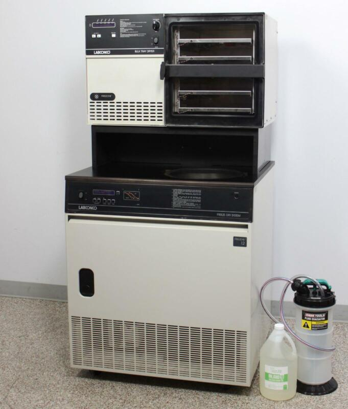 Labconco FreeZone 12 Freeze Dryer 7754010 with Bulk Tray Dryer and Shelves