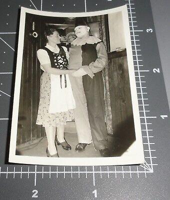 CREEPY CLOWN Face MAKE UP 1941 German Woman Man Halloween Costume Vintage PHOTO](Men Make Up Halloween)