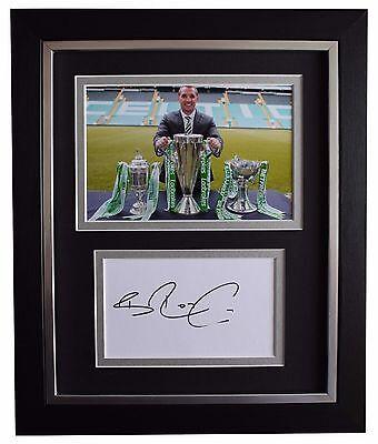 Brendan Rodgers SIGNED 10x8 FRAMED Photo Autograph Display Celtic Football COA