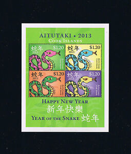 2013-Aitutaki-Year-of-the-Snake-Souvenir-Sheet