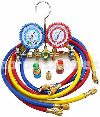 Dual Gauge Ac Diagnostic Manifold Tester Set Hvac R134a R12 R22 R502 Charging