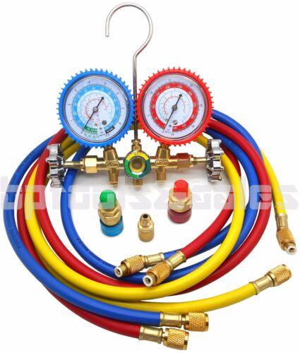 Dual Gauge A/C Diagnostic Manifold Tester Set HVAC R134A R12 R22 R502 Charging