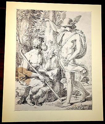 Grafik,Radierung,Joseph Bergler d.J. 1804, Merkur(Hermes) und Battus
