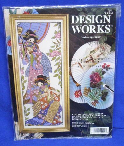 Design Works Joan Elliott Counted Cross Stitch Kit Asian Splendor 9442 Geisha L4