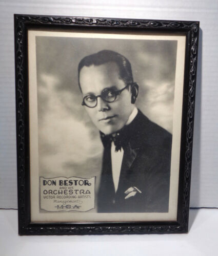 Vintage MCA Victor Recording Don Bestor & His Orchestra Store Promo Framed Photo