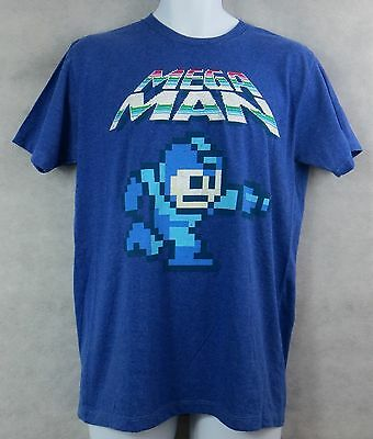 MEGA MAN Mens Vintage Retro T-Shirt Tee Video Game New Officially Licensed (Vintage Video Game T-shirts)