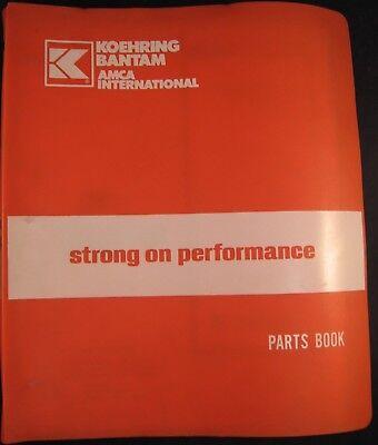 Koehring Bantam Model 304c 306c Carrier Parts Book Manual
