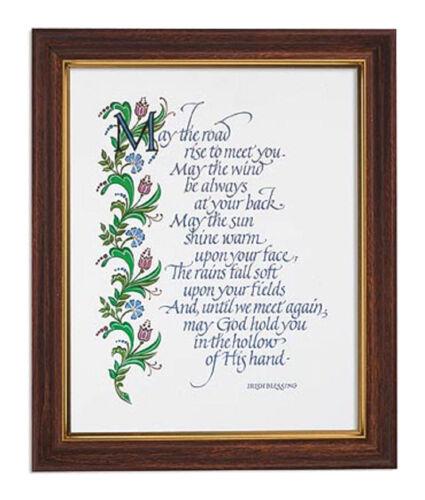 """Gerffert Framed Print 10 x 12.5"""" An Irish Blessing Wall Hang or Shelf NIB"""