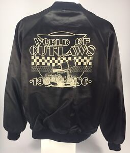Vintage racing jacket Sprint Car world of Outlaws authentic