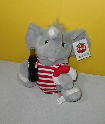 "Coke Coca Cola Plush 10"" Elephant Swim Suit Play By Play Stuffed Animal Toy"