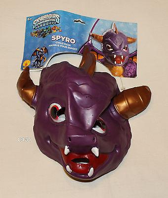 Skylanders Spyro Boys Halloween Costume Vinyl Mask One Size New](Spyro Halloween Costume)