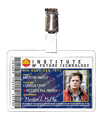 Back To The Future Institute Marty Mcfly Cosplay Prop Costume ComicCon Halloween