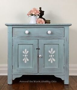 Antique shabby chic farmhouse wash stand
