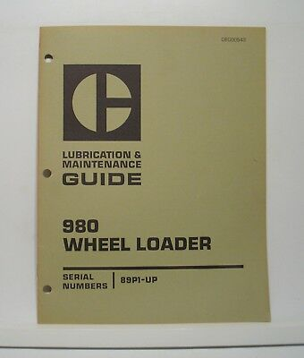 Cat Caterpillar Lubrication Maintenance Guide 980 Wheel Loaders Service 89p1-up