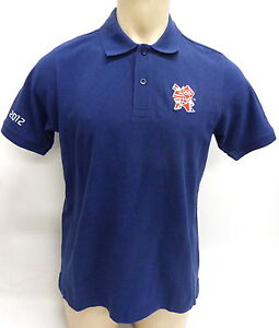 London 2012 Olympics Mens Polo T-Shirt Size Uk Medium (U36357)