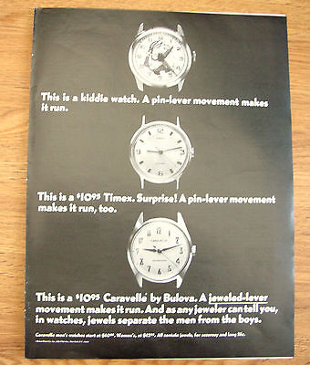 1968 Caravelle by Bulova Ad  Bugs Bunny Watch