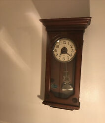 HOWARD MILLER JASMINE WALL CLOCK  DUAL CHIMES CHERRY Some Issues, Pls READ