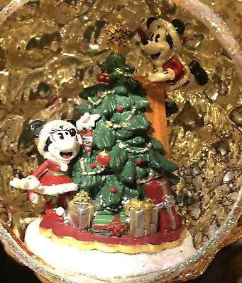 Good Tidings Mickey Minnie Light Up Ornament Disney Theme Parks