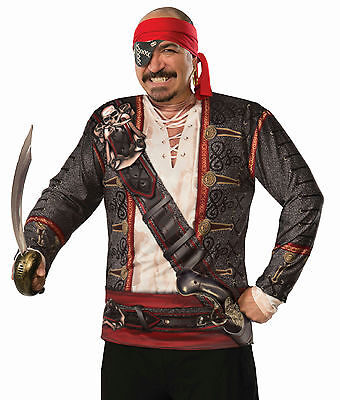Forum Novelties Mens Realistic Buccaneer Pirate Costume Shirt One - Realistic Pirate Costumes
