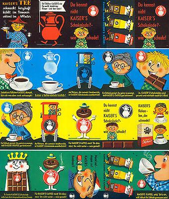 20+1 Etikettenserie, Original-Druckbogen, Kaiser´s Kaffee-Geschäft 2 von 1961-63