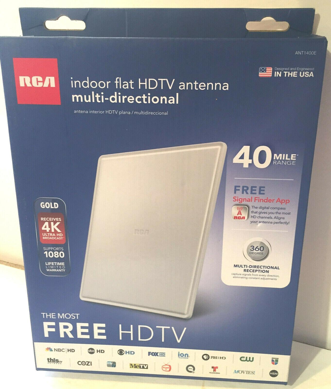 RCA Multi-Directional, Flat Digital Indoor HDTV Antenna