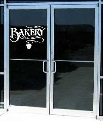 Bakery Store Business Sign Vinyl Decal Sticker Sign Window Door Glass