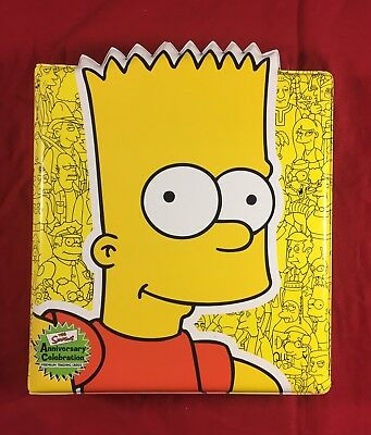 Inkworks Simpsons 10th Anniversary Bart Binder New Collector Album Looseleaf