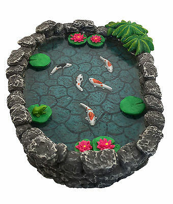 KOI Miniature Pond -  Koi Pond for a Fairy Garden / Miniature Garden