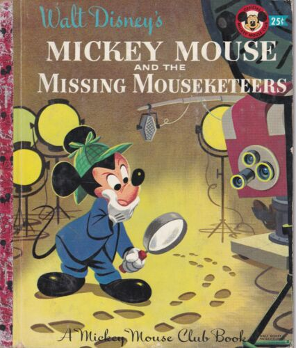 LITLE GOLDEN BOOK MICKEY MOUSE & MISSING MOUSEKETEERS #D57 1956 EDITION A