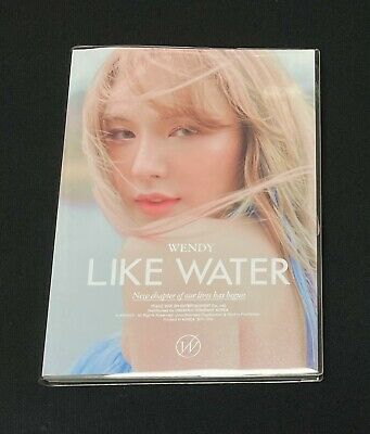 """WENDY (RED VELVET) autographed """"LIKE WATER"""" 1st Mini Album signed PROMO CD"""