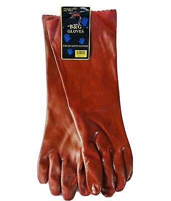 Bg Lined 17 Elbow Length Pvc Gloves Xl 1 Pair