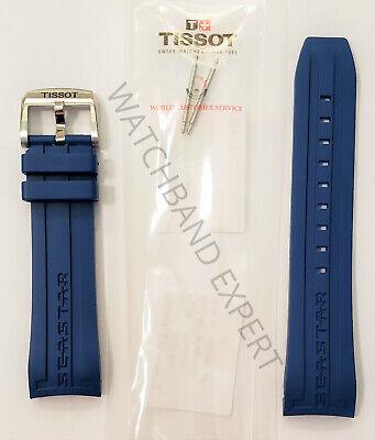 Original Tissot Seastar 1000 T066427A / T066414A 23mm Blue Rubber Band Strap